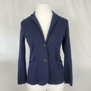 J Crew Sweater Blazer Navy Blue Cardigan